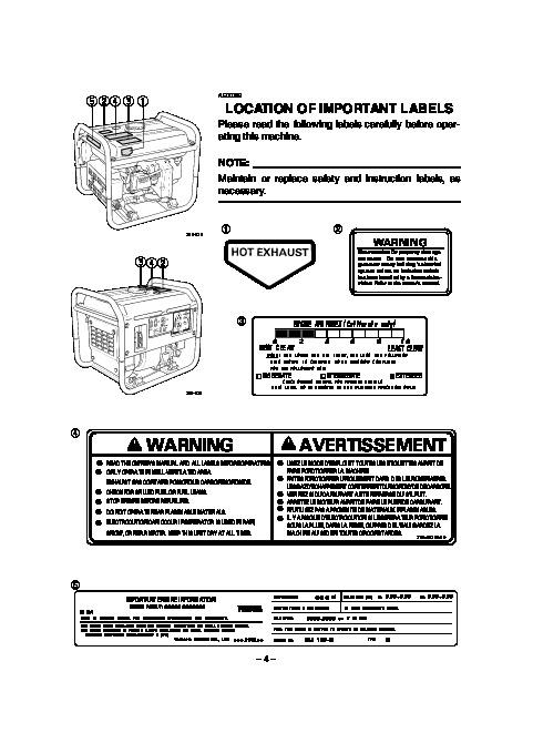 yamaha ef2800i yg2800i generator owners manual rh needmanual com Yamaha 3000 Generator Replacement Parts Yamaha EF2000iS