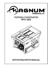 Magnum MPG 5600 Generator Owners Manual page 1