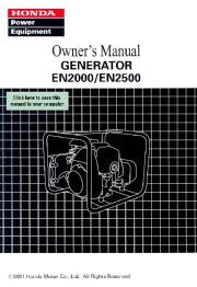 Honda Generator EN2000 EN2500 Owners Manual page 1