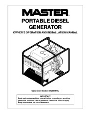 Master MGY5000C Generator Owners Manual page 1