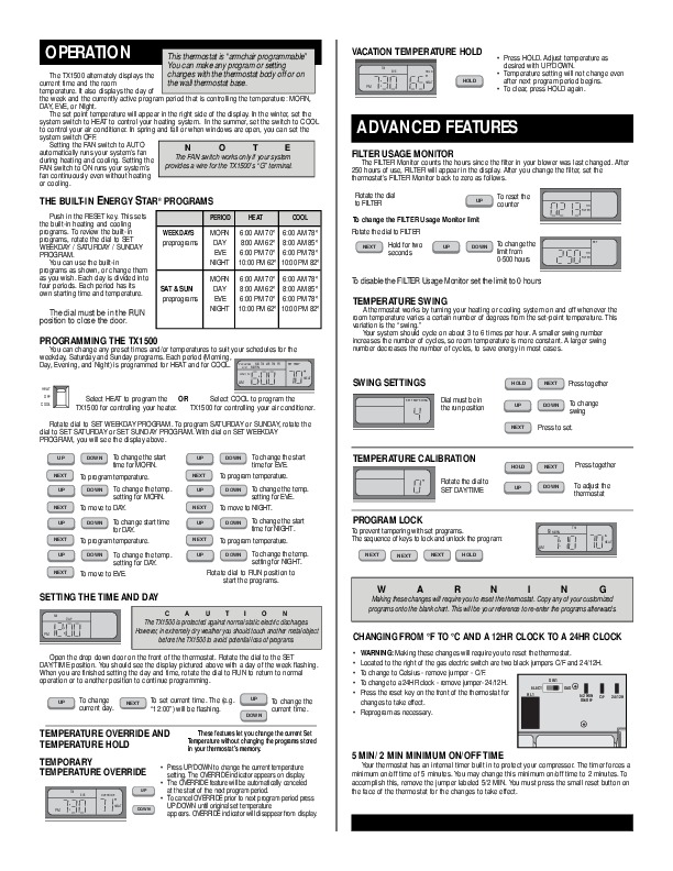 lux thermostat tx1500b series installation operating instructions 3 lux thermostat wiring diagram efcaviation com luxpro psd111 wiring diagram at soozxer.org