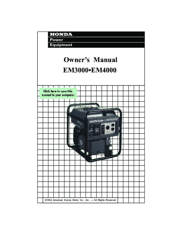 honda 3000 generator owners manual open source user manual u2022 rh dramatic varieties com honda generator eu6500is owner's manual honda generator owner's manual eu3000is