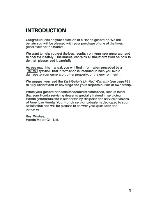 Honda eb5000 generator owners manual