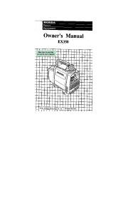 Honda Generator EX350 Owners Manual page 1