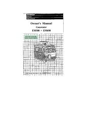 Honda Generator EM500 EM600 Owners Manual page 1