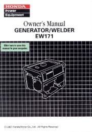Honda Generator EW171 Owners Manual page 1