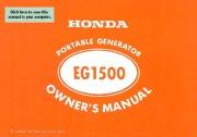 Honda Generator EG1500 Owners Manual page 1