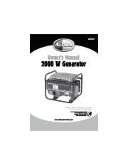 All Power America 2000 APG3014 Generator Owners Manual page 1