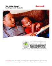 Honeywell The Digital Round Non-Programmable Thermostats Brochure page 1