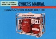 Honda Generator E1000 Owners Manual page 1