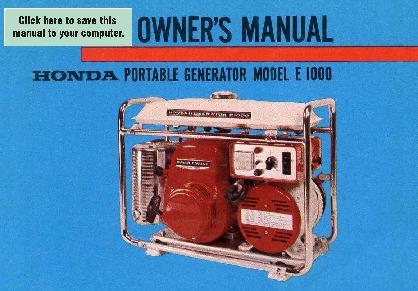 honda generator e1000 owners manual rh home appliance needmanual com honda generator owner's manual honda generator owner's manual eu3000is