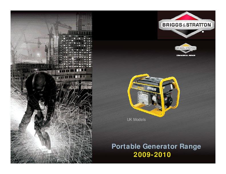 briggs and stratton generator manual