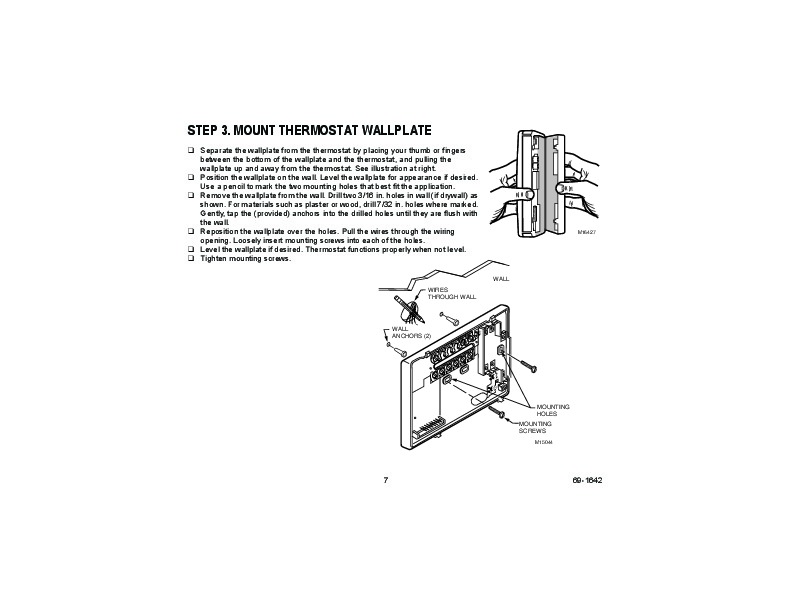 Honeywell Ct3600 Ct3697 Programmable Thermostat Owners Guide
