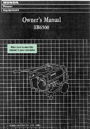 Honda Generator EB6500 Owners Manual page 1