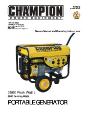 Champion 3000 3500 Generator Owners Manual page 1