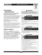Generac 4000XL Generator Owners Manual page 2