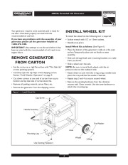 Generac 4000XL Generator Owners Manual page 4