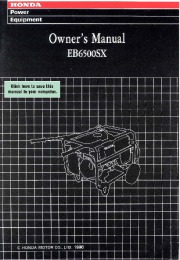 Honda Generator EB6500SX Owners Manual page 1