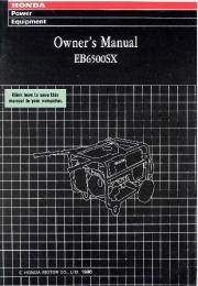 Honda Generator EB6500SX Owners Manual page 1