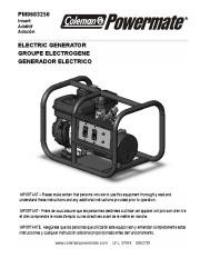 Coleman Powermate PM0603250 Generator Owners Manual page 1