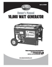 All Power America 10000 APG3090 Generator Owners Manual page 1