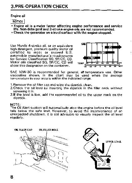 Honda em 6500 sx generator manual for Honda financial services customer service number
