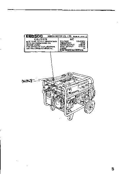 honda generator em3800sx em5000sx em6500sx owners manual rh home appliance needmanual com New Honda Ad2x honda em5000sx manual