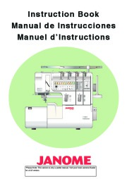 Janome 1100D Sewing Machine Instruction Owners Manual page 1