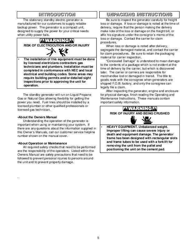 coleman powermate 6750 generator manual
