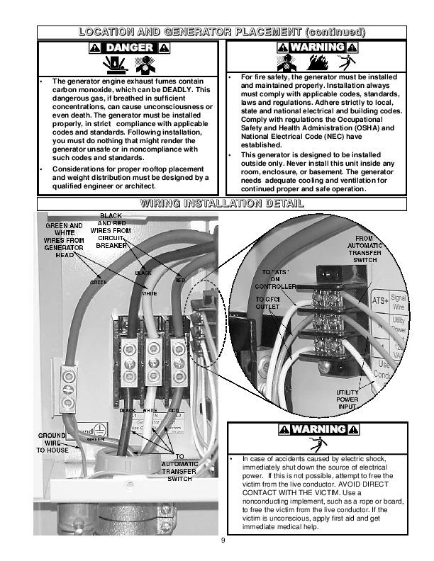 coleman powermate pm402511 generator owners manual coleman powermate pm402511 generator owners manual page 9