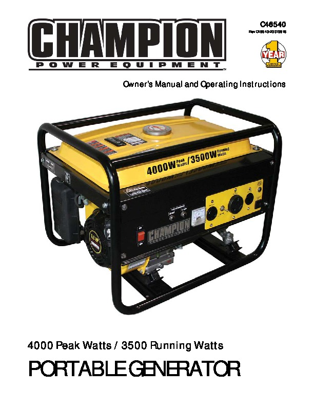 champion 3500 4000 generator owners manual rh home appliance needmanual com champion generator wiring diagram model 100216 champion generator wiring diagram #48