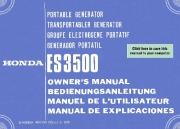 Honda Generator ES3500 Owners Manual page 1