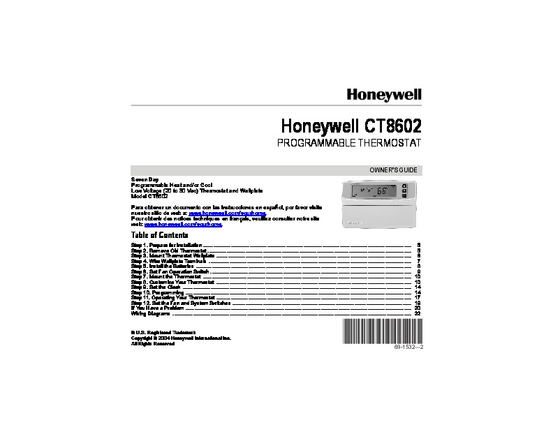 honeywell thermostat owners manual rth221b1021