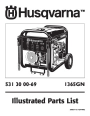 2006 Husqvarna 1365GN Generator Illustrated Parts List page 1