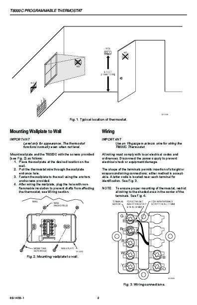 honeywell 8000 thermostat installation manual