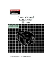 Honda Generator EB11000 Owners Manual page 1