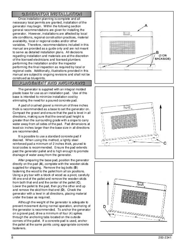 Coleman Powermate generator 2500 Manual