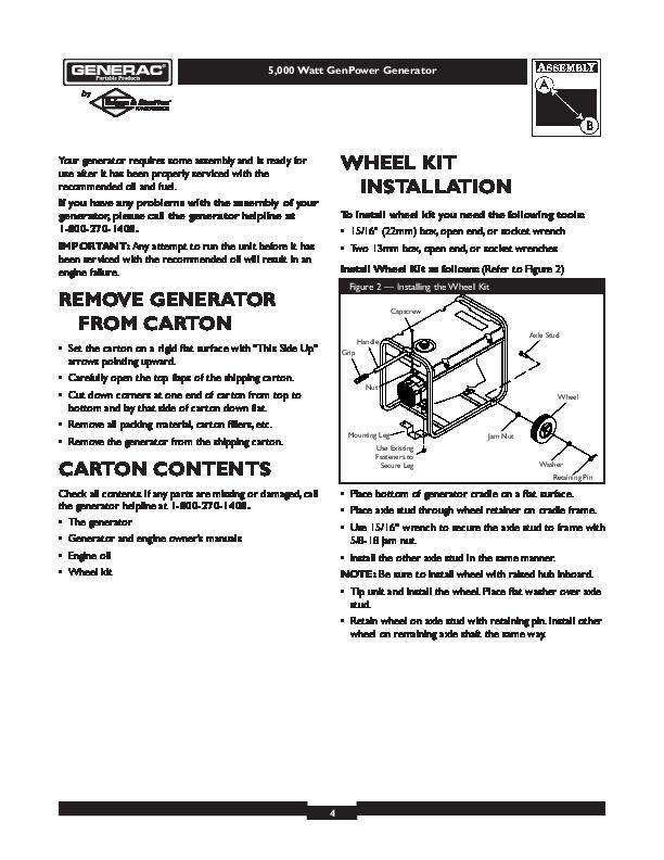 generac 5000 generator owners manual. Black Bedroom Furniture Sets. Home Design Ideas