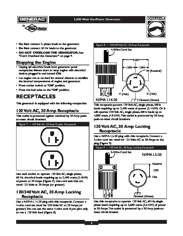 generac gp17500e wiring diagram generac wiring diagrams generac 5000 generator owners manual 8 generac gp