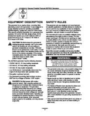 Generac SVP5000 Generator Owners Manual page 2
