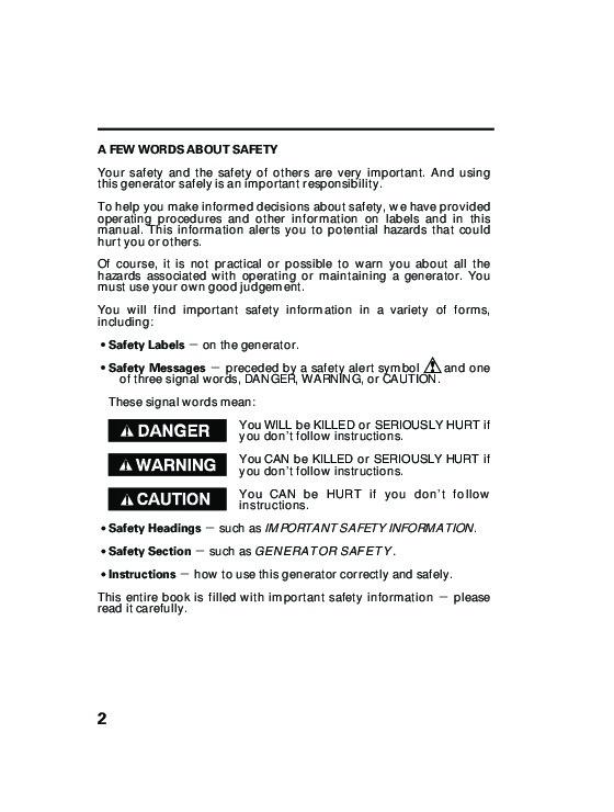 Honda Generator EG5000X Owners Manual 4 honda generator eg5000x owners manual honda eb5000 generator wiring diagram at aneh.co