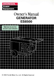 Honda Generator ES6500 Owners Manual page 1