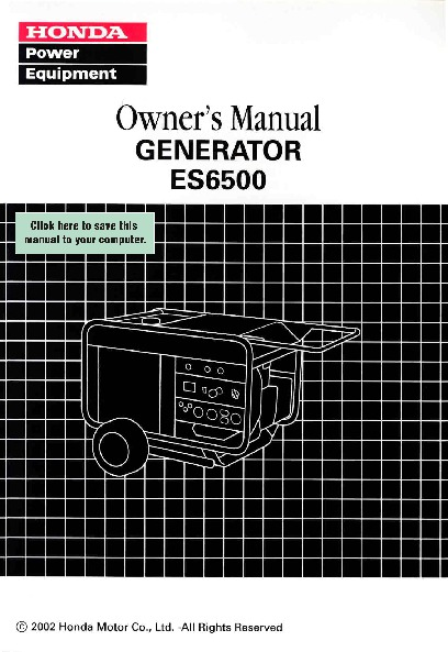 honda generator es6500 owners manual rh home appliance needmanual com honda es6500 repair manual honda es 6500 generator manual