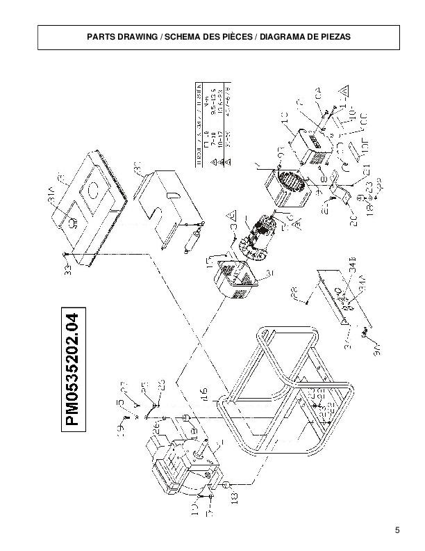 coleman powermate pro 5000 pm0535202 generator owners manual