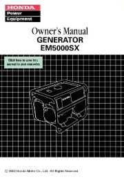 Honda Generator EM5000SX Owners Manual page 1