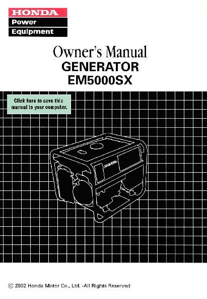 em5000sx troubleshooting manual online user manual u2022 rh pandadigital co EM5000SX Honda Generator Problems honda generator em5000sx parts manual