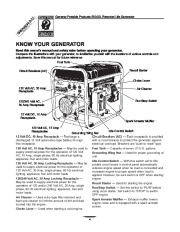 Generac 5500XL Generator Owners Manual page 4