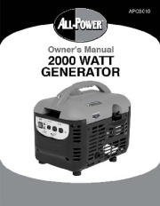 All Power America 2000 APG3010 Generator Owners Manual page 1