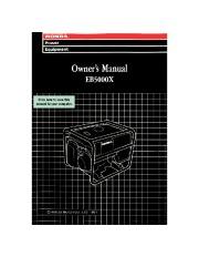 Honda Generator EB5000S Owners Manual page 1