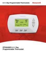 Honeywell RTH6400D 5-1-1 Day Programmable Thermostat Brochure page 1